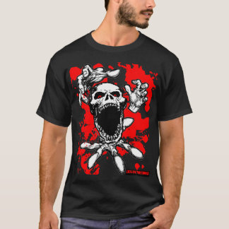 Camisa del zombi del salpicón de la sangre
