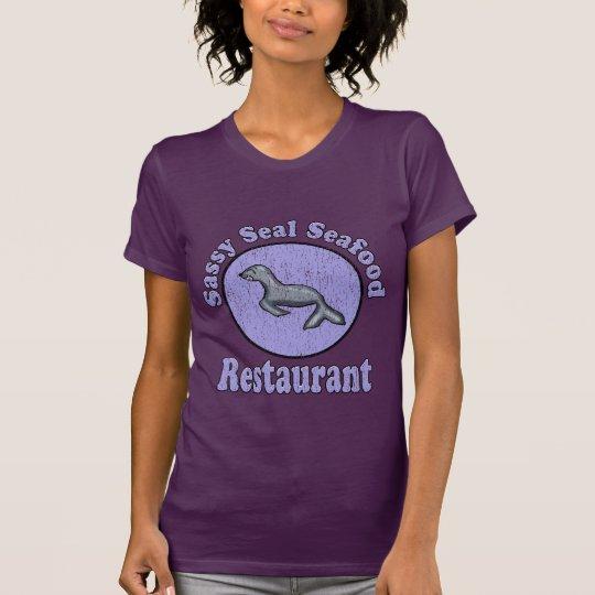 Camisa descarada del restaurante de los mariscos
