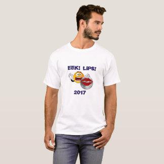 "Camisa divertida 2017 del eclipse: ¡""EEK! ¡Labios!"