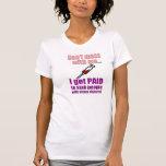 Camisa divertida de la enfermera de las mujeres