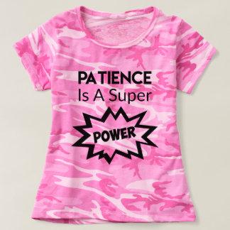 Camisa divertida de la paciencia de Camo