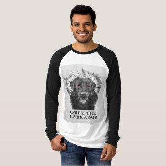 Camisa divertida de Labrador - obedezca el