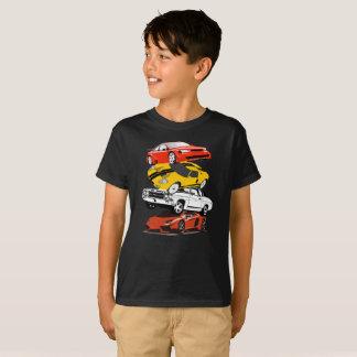 Camisa divertida del choque múltiple del coche
