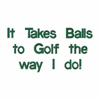 Camisa divertida del golf, bordada