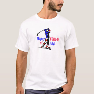 Camisa divertida del golfista del papá
