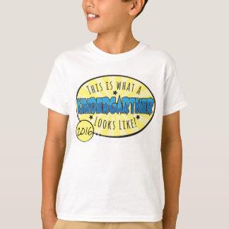 Camisa el   de la guardería azul y amarillo