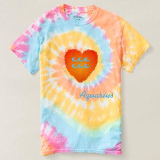 Camisa en colores pastel del teñido anudado del