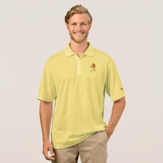 Camisa enojada del golfista