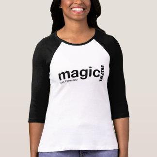 Camisa envuelta negro mágico del raglán de las