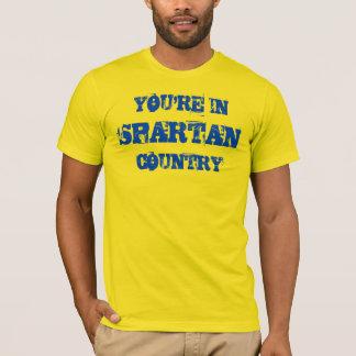 Camisa espartano del oro del país