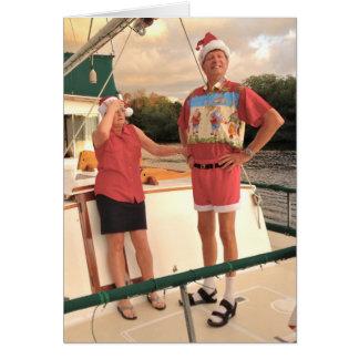 Camisa fea del navidad tarjeta de felicitación