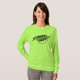 Camisa feliz del atletismo del tiro