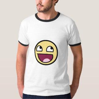 camisa feliz fresca de la cara