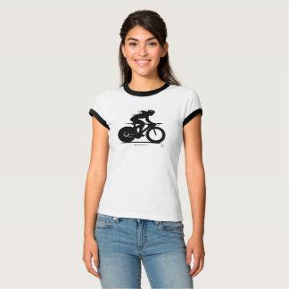 Camisa (femenina) de la silueta del jinete de la