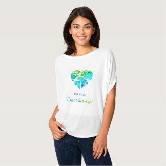 Camisa floja del viaje del mapa del mundo del