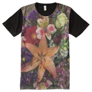 Camisa floral de la estrella camisetas con estampado integral