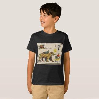 Camisa fresca del niño, punk, impresionante,