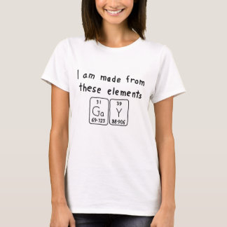 Camisa gay del nombre de la tabla periódica