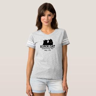 Camisa gemela del día del aprecio de los gatos