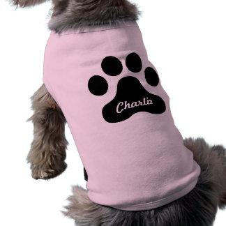 Camisa gigante de la impresión del perro