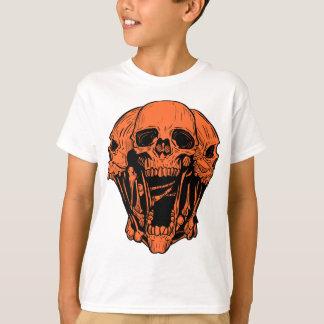 Camisa gráfica anaranjada del cráneo