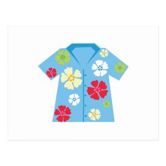 Camisa hawaiana postal