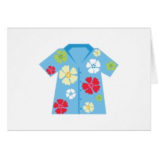 Camisa hawaiana tarjeta de felicitación