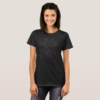Camisa inspiradora de la cita el | del amor y de