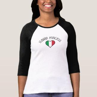 Camisa italiana de la bandera - princesa italiana