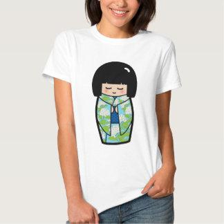 Camisa japonesa (azul) de la muñeca de Kawaii