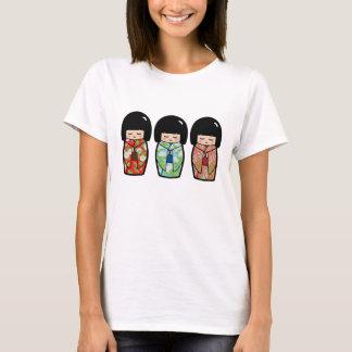 Camisa japonesa de la muñeca del trío de Kawaii