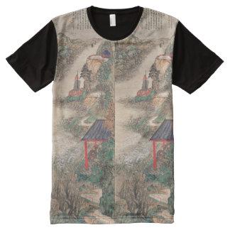 Camisa japonesa del arte camisetas con estampado integral