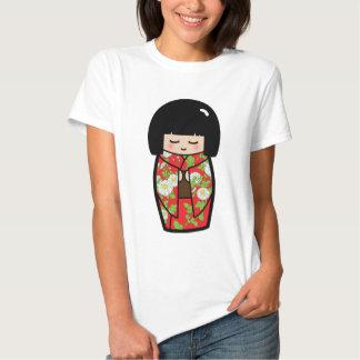 Camisa japonesa (roja) de la muñeca de Kawaii