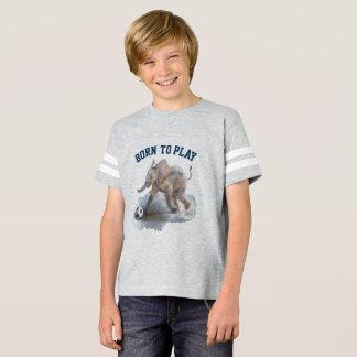 Camisa juguetona del fútbol del elefante de los