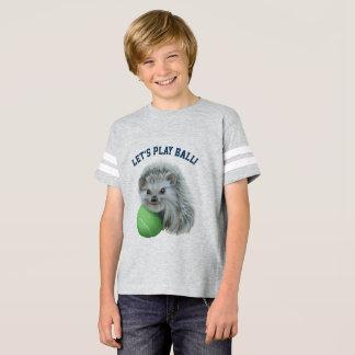 Camisa juguetona del fútbol del erizo de los niños
