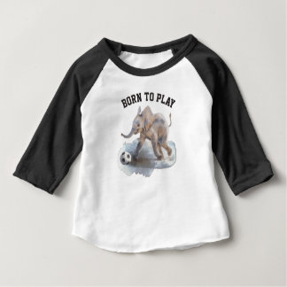 Camisa juguetona del raglán del elefante de la