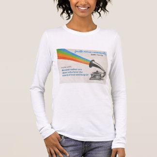 Camisa larga para mujer de la manga 4AC