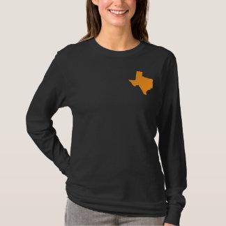 Camisa Largo-Envuelta de la estrella de Tejas