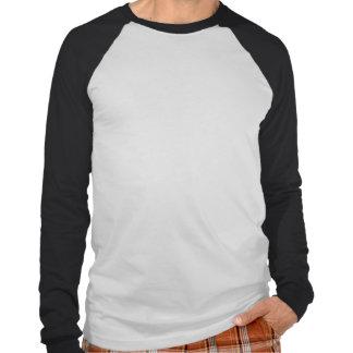 Camisa Largo-Envuelta retrato NEGRO del CUERVO