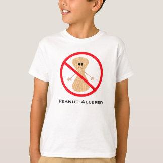 Camisa libre de la alergia del cacahuete