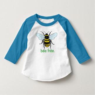 Camisa libre de los niños de la abeja