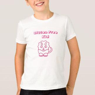 Camisa libre del niño del gluten fucsia de Dino