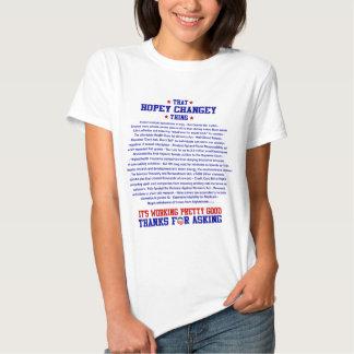 camisa ligera de obama de la cosa del changey del