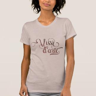 Camisa ligera tipográfica ornamental del d'arte de