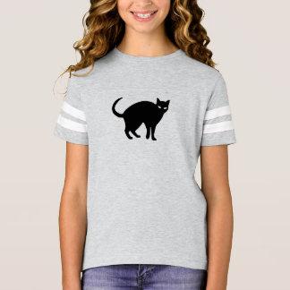 Camisa linda de Halloween del gato negro
