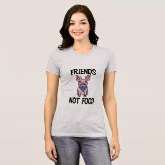 Camisa linda del cerdo de la comida de los amigos