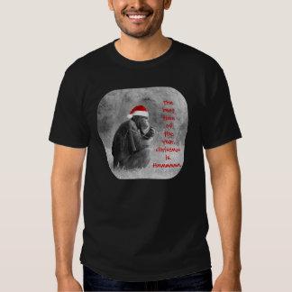 """¡Camisa linda del navidad """"Yoda-como"""" chimpancé! Camisetas"""