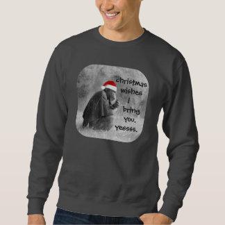 """¡Camisa linda del navidad """"Yoda-como"""" chimpancé! Jersey"""