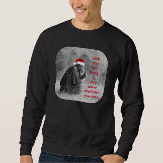 """¡Camisa linda del navidad """"Yoda-como"""" chimpancé! Sudaderas Encapuchadas"""