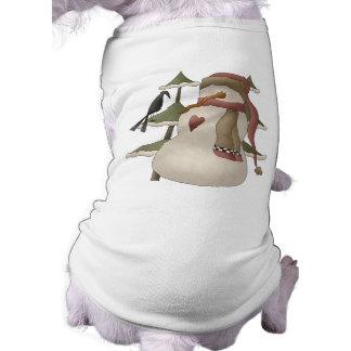 Camisa linda del perro del navidad del muñeco de